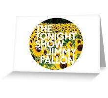 sunflower jimmy fallon Greeting Card