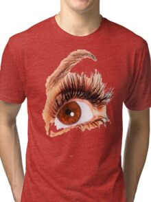 Brown EYE Tri-blend T-Shirt