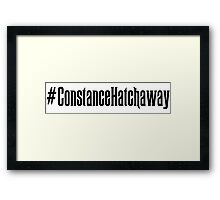 Constance Hatchaway Hashtag Framed Print