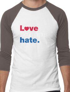 Love Trumps Hate Men's Baseball ¾ T-Shirt