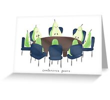Conference Pears Greeting Card