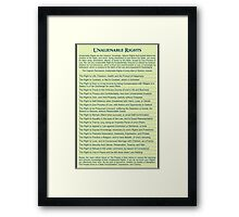 Freedom Rights Framed Print