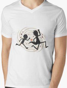 running rickmorty Mens V-Neck T-Shirt