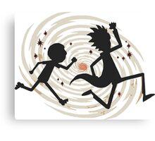 running rickmorty Canvas Print
