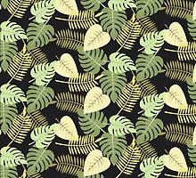 Leaf Modern Abstract Pattern Fine Art by Vicky Brago-Mitchell