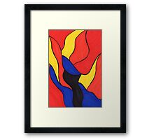 Flame In The Night Framed Print