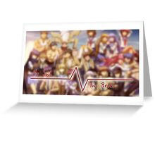 Angel Beats: My Soul, Your Beats Greeting Card