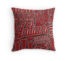 IU Indiana University Hoosiers collage Throw Pillow