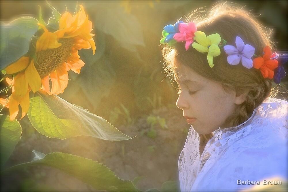Flower Child by Barbara  Brown