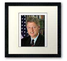 Bill Clinton American President Framed Print
