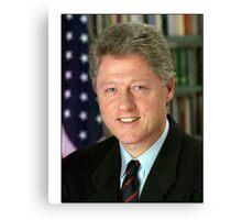 Bill Clinton American President Canvas Print