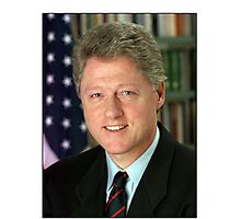 Bill Clinton American President Photographic Print
