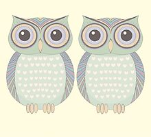 Owl Twins by Jean Gregory  Evans