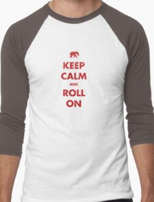 Keep Calm and Roll On Men's Baseball ¾ T-Shirt