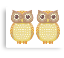 Twin Owls Canvas Print