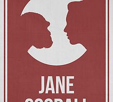 JANE GOODALL - Women in Science Wall Art by Hydrogene