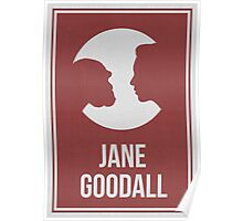 JANE GOODALL - Women in Science Collection Poster