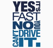Yes it's fast No you can't drive it (3) by PlanDesigner