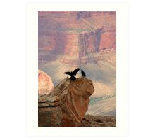 Grand Canyon Ravens Art Print