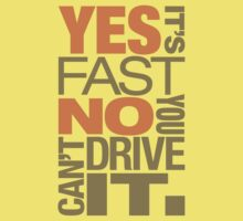 Yes it's fast No you can't drive it (4) by PlanDesigner