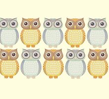 Ten Friendly Owls by Jean Gregory  Evans