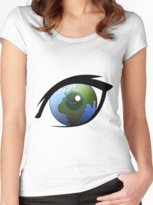 Earth In The Eye Women's Fitted Scoop T-Shirt
