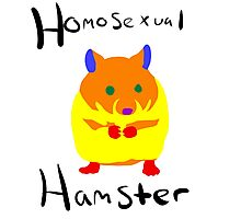 Homosexual Hamster Photographic Print