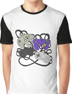 Old School Game Controllers  Graphic T-Shirt