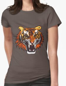 Angry Tiger 578 Womens Fitted T-Shirt