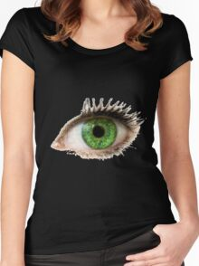 Green Eye Women's Fitted Scoop T-Shirt