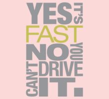 Yes it's fast No you can't drive it (7) Kids Clothes