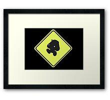 Goomba crossing Framed Print
