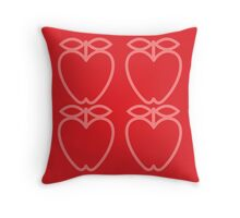 MCM Apples Pink & Red Throw Pillow