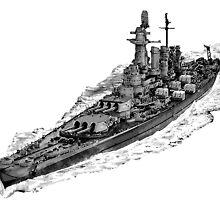 USS Washington (BB-56) by deathdagger