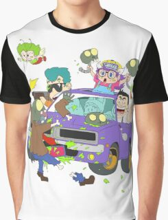 Zombie Car Rampage Graphic T-Shirt