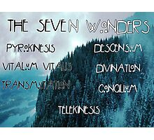 The seven wonders American horror story  Photographic Print