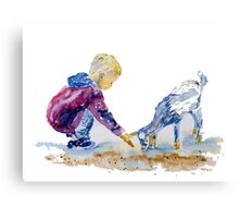 A Couple of  Kids Canvas Print
