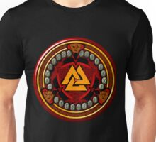 Norse/Viking Rune Set in Red Unisex T-Shirt