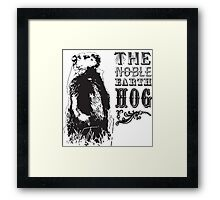 The Noble Earth Hog Framed Print