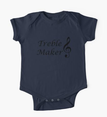 Funny Music Design One Piece - Short Sleeve