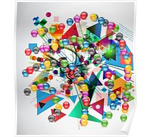 Ball&triangle Poster