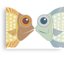 Fish Greetings Canvas Print