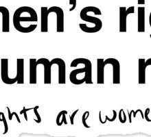 Hillary Clinton - Women's Rights are Human Rights Sticker