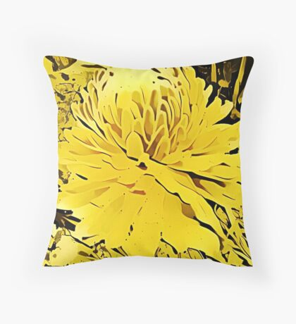 Golden Torch Throw Pillow