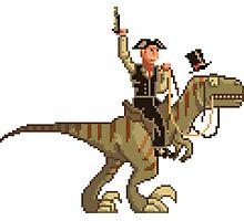 Gentleman Dinosaur Duelist #1 Photographic Print