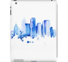 silhouette of the city of new York watercolor hand-drawn iPad Case/Skin