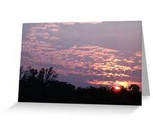 Goodbye Mr Sun Greeting Card