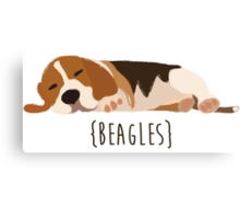 Beagles Canvas Print