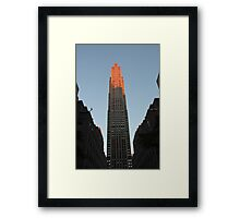 Skyscraper in Pink: 30 Rock, NYC Framed Print