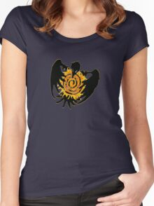 Trickster Raven with Sun Women's Fitted Scoop T-Shirt